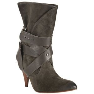 Women's Brown Taupe Suede Cassandra Wrapped Boots